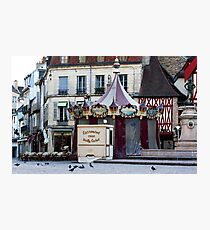 early morning at the carrousel Dijon France  Photographic Print