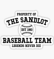 The Sandlot Baseball team Sticker