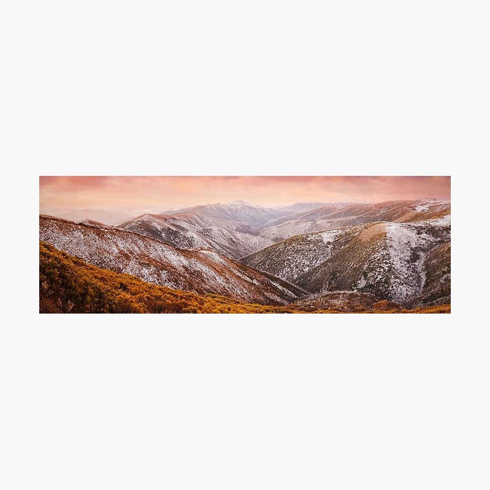 Mt Feathertop Sunset, Victoria, Australia Photographic Print