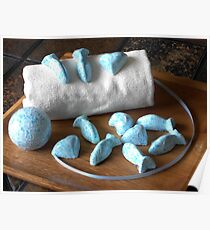 Blue Fish Bath Bombs Poster