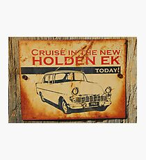 The New Holden EK Photographic Print