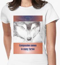 Wolf Art and quote for Clothes Women's Fitted T-Shirt