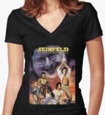 Newman Strikes Back Fan Art Women's Fitted V-Neck T-Shirt