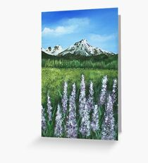 Lupin and Mountain Greeting Card