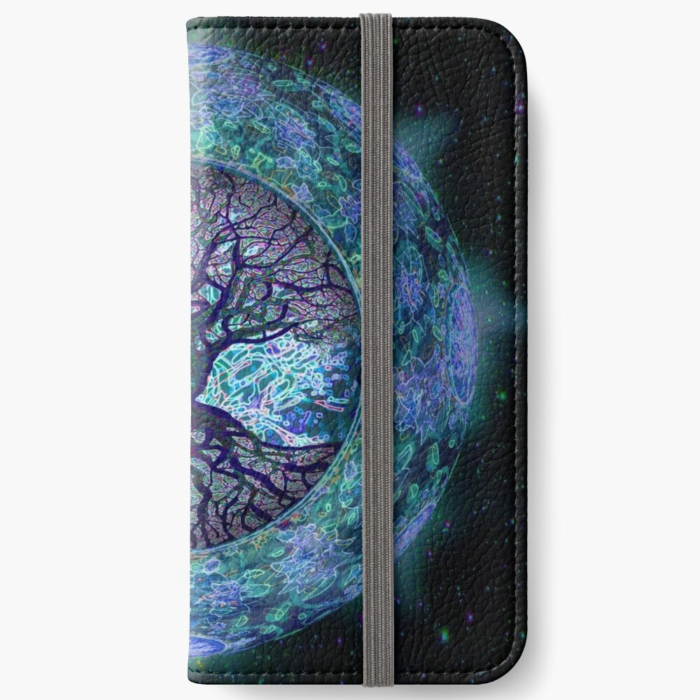Planet Earth Circle of Life iPhone Wallet