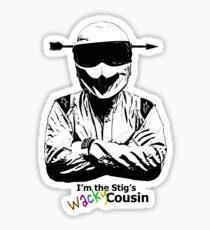 I'm The Stig's Wacky Cousin Sticker