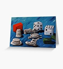 Game Pieces  Greeting Card