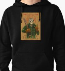 Religious Horror Icon-Jason Voorhees-T.G.I.F.-Friday the 13th Pullover Hoodie