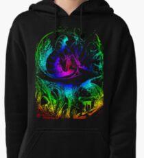 Psychadelic Mushroom Alice in Wonderland Pullover Hoodie