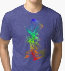 Psychedelic Mad Hatter Trippy Alice Tri-blend T-Shirt