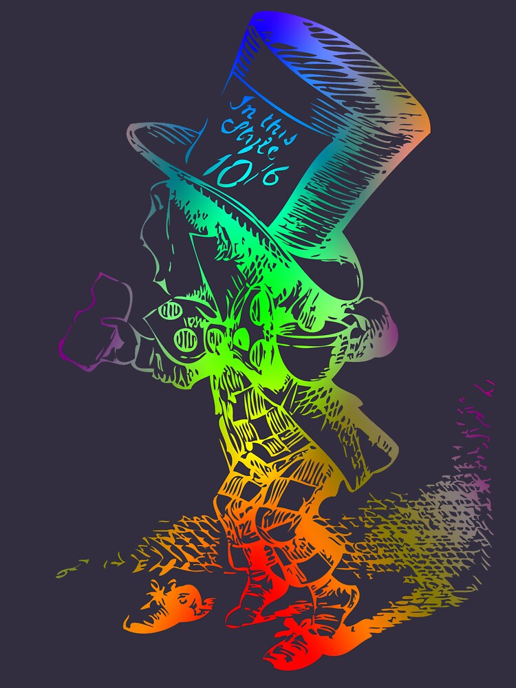 Psychedelic Mad Hatter Trippy Alice By Archpress