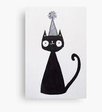 Celebration Cat  Canvas Print