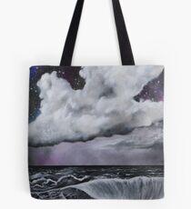 Sea in black and white Tote Bag