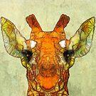 abstract giraffe calf by Ancello