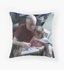 Drawing With Gracie Throw Pillow