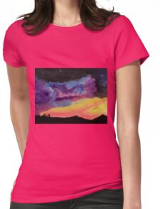 Western Galaxy Womens Fitted T-Shirt
