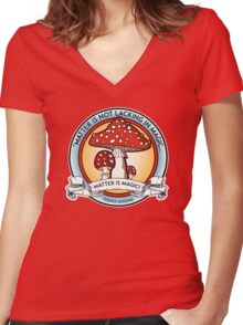 Terence Mckenna Wisdom Women's Fitted V-Neck T-Shirt