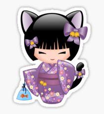 Neko Kokeshi Doll V2 Sticker