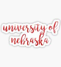 University of Nebraska/UNLWatercolor Sticker