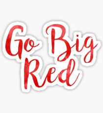 Go Big Red (University of Nebraska/UNL) Sticker