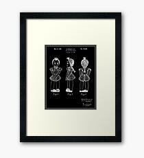 Creepy Doll Patent - Black Framed Print