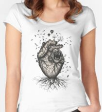 The Heart Of Nature Women's Fitted Scoop T-Shirt