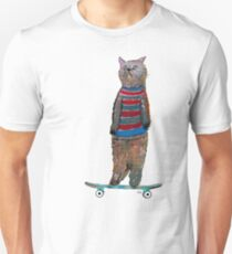 the cat skate  T-Shirt