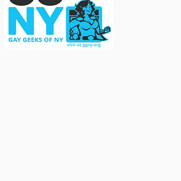 Oma - Blue GGNY Hero Sticker by GayGeeksNY