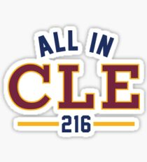 All in CLE 216 Sticker