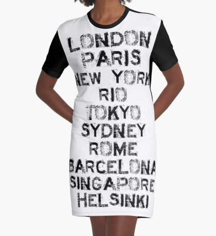 Been there, and there, and there too...! Graphic T-Shirt Dress