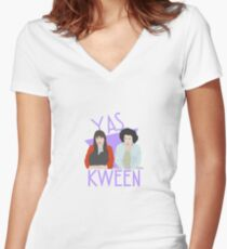Broad City - Kweens Women's Fitted V-Neck T-Shirt