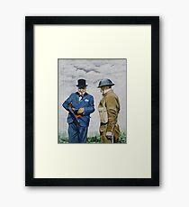 WWII Winston Churchill Framed Print