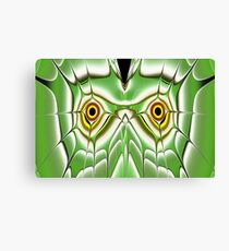 Green Owl Canvas Print