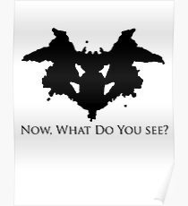 rorschach test design illustration posters redbubble