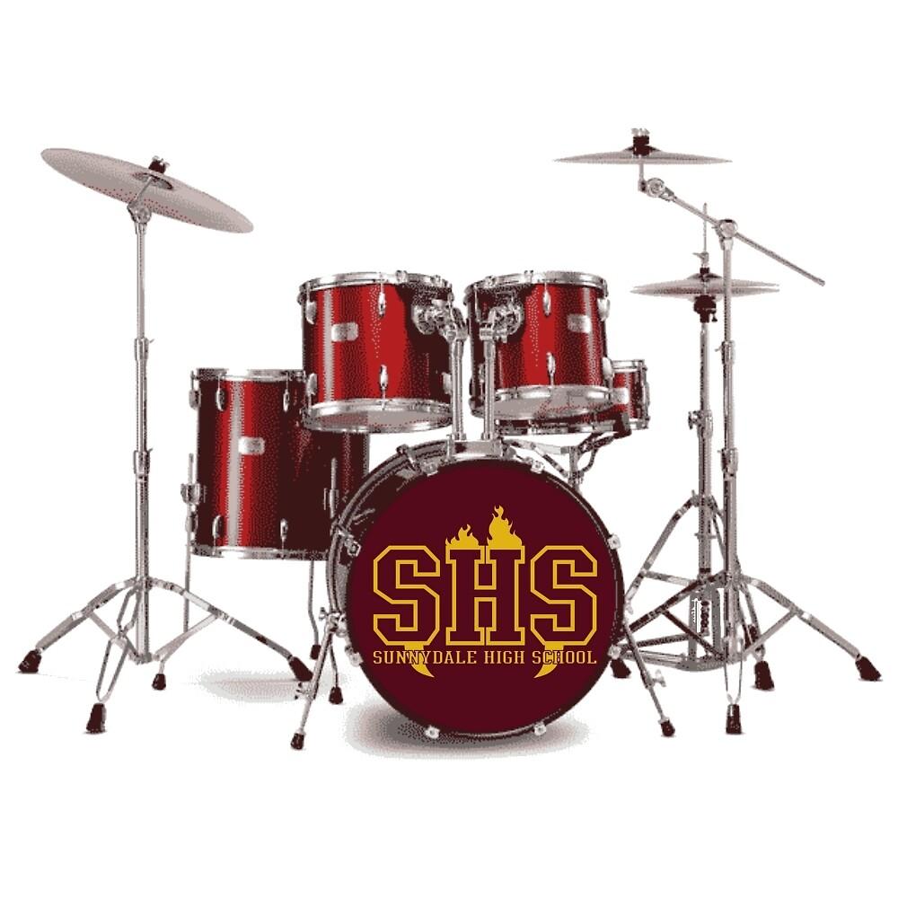 Buffy SHS Sunnydale High School Drums by leanne-marie93