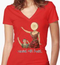 Neutral milk hotel Women's Fitted V-Neck T-Shirt