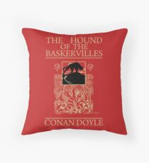 Hound of the Baskervilles Book Cover Throw Pillow