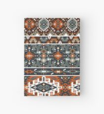 Colorful pattern in tribal style Hardcover Journal