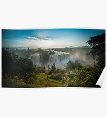 Nile river waterfall in Ethiopia Poster