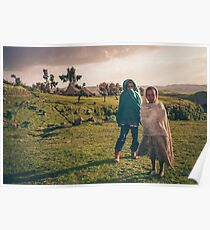 Local children in Simien mountains in Ethiopia Poster