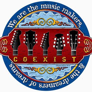 Guitar Coexist by dharmadogstudio