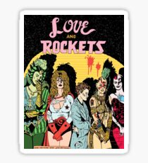 Love and Rockets hero's and villians Sticker