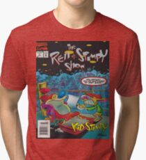 Ren and Stimpy boxing comic Tri-blend T-Shirt