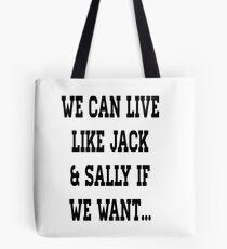 Jack & Sally Tote Bag