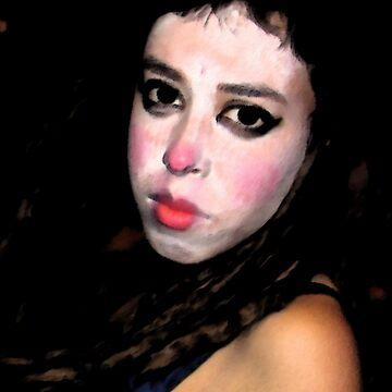 The dark woman .... Clown  by sonarphoto