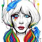 Zooey - Twisted Celebrity Watercolor by Stephanie Zahalka