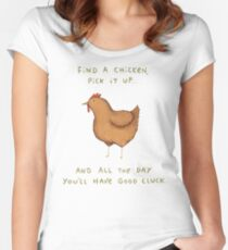 Good Cluck Women's Fitted Scoop T-Shirt