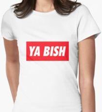 Ya Bish Typography Women's Fitted T-Shirt