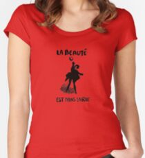 Beauty Is in the Street (black) Women's Fitted Scoop T-Shirt