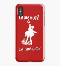 Beauty Is in the Street (white) iPhone Case/Skin